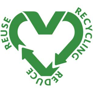Love-it-clean recycle icon